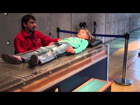 bed of nails at Museo Interactivo Mirador (MIM) in Santiago, Chile