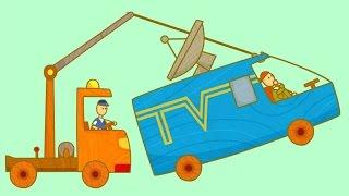 Çizgi film Türkçe izle! Çocuklar için arabalar- Demiryolu geçidi. #eğiticivideo