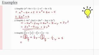 MCR3U/Grade 11 Functions: 2.1 Adding and Subtracting Polynomials