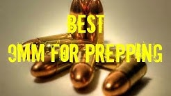 Best 9mm round for prepping or stockpiling.  Consider the packaging.