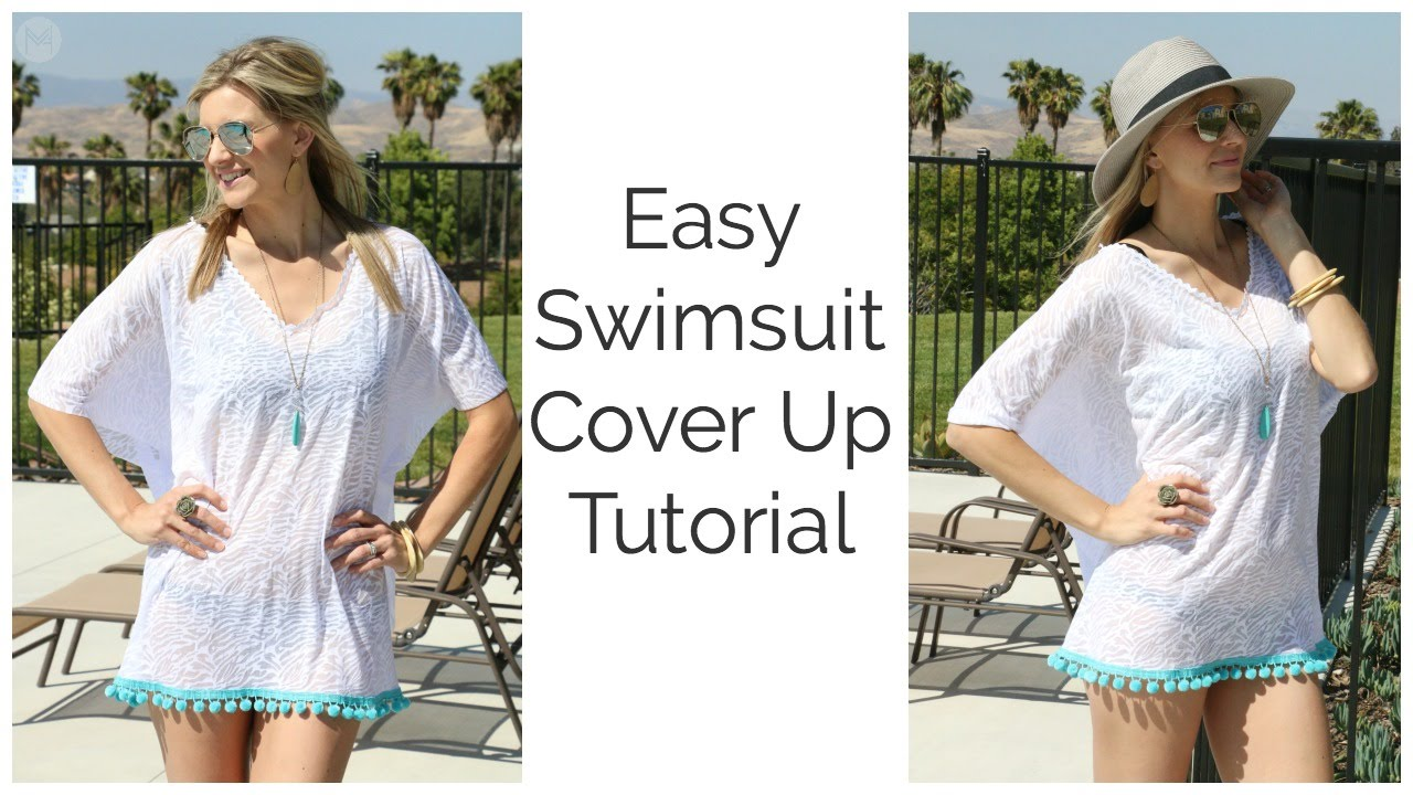 e8e8035326 Easy Swimsuit Cover Up Tutorial DIY - YouTube