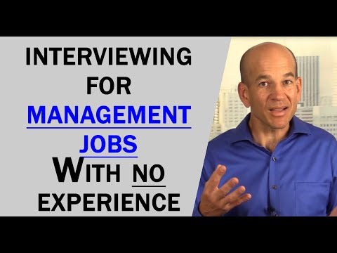 How to interview for a management position without experience