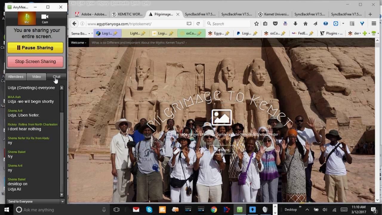 Pilgrimage to Kemet – Egyptian Yoga-Kemet University-Sema Institute