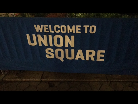 Hanging out with other You Tubers at Union Square in New York