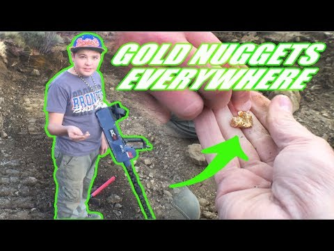 Download Youtube: You won't believe the size of the gold nuggets this kid finds.  Area 51