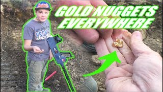 You won't believe the size of the gold nuggets this kid finds.  Area 51