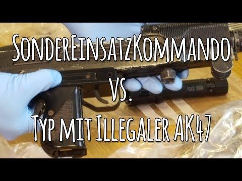 Vorsicht Vor Illegalen Waffen Im Regen, Sie Sprühen Wieder!