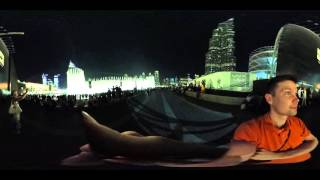 Dubai Fountain, 360 view