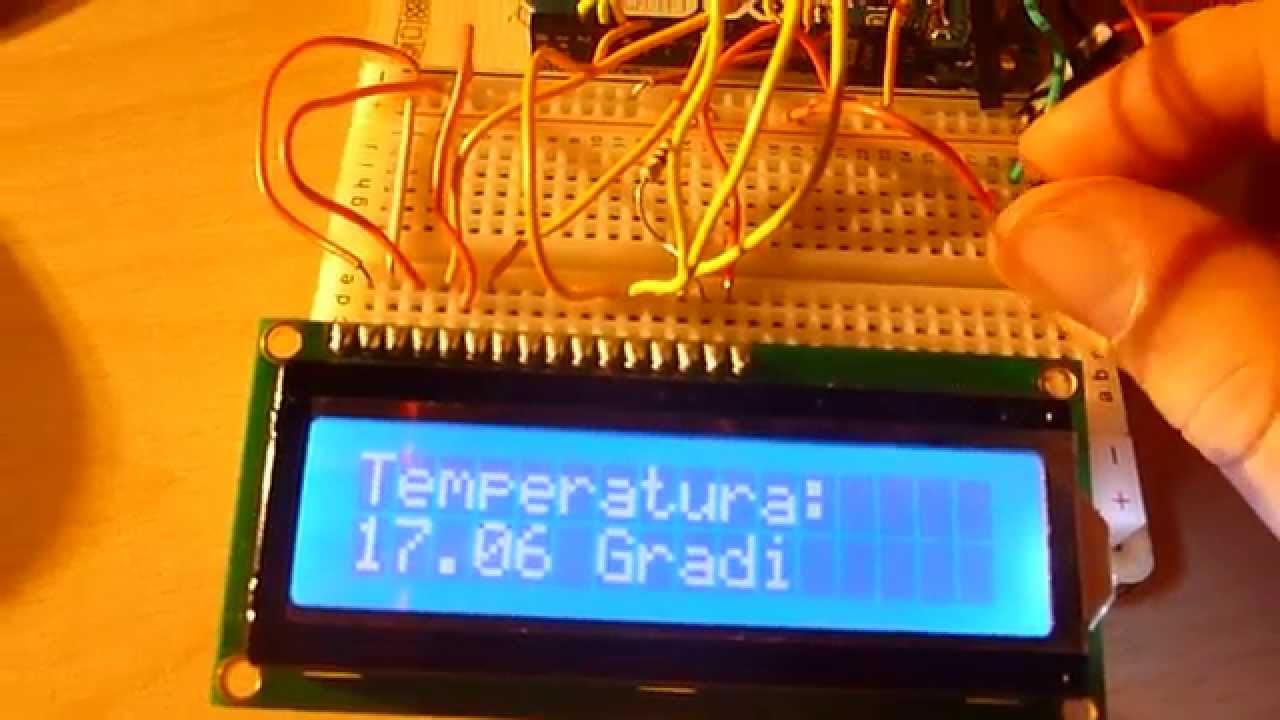 Termometro Lcd Con Sensore Tmp 36gz Con Arduino Youtube