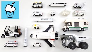 Learning White Color for kids with street vehicles tomica トミカ siku lego VooV ブーブ