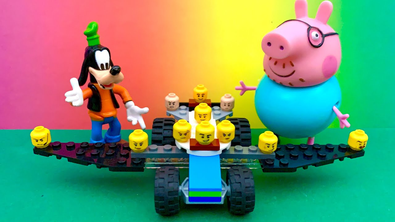 Lego, and Daddy Pig and Goofy ☺️😍 Masha and the Bear, Minnie Mouse, Surprise egg