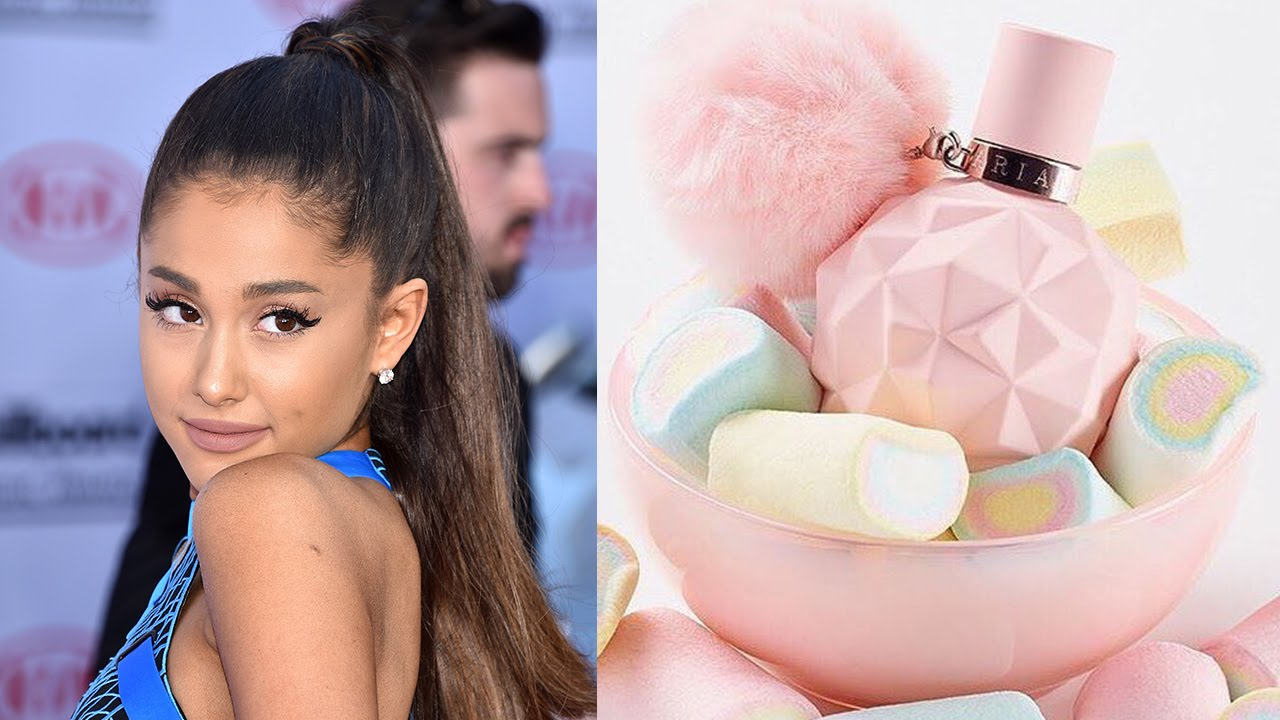 ariana grande drops surprise fragrance 39 sweet like candy 39 youtube. Black Bedroom Furniture Sets. Home Design Ideas