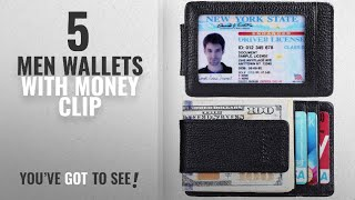 Top 10 Men Wallets With Money Clip [ Winter 2018 ]: Money Clip, Front Pocket Wallet,Leather RFID