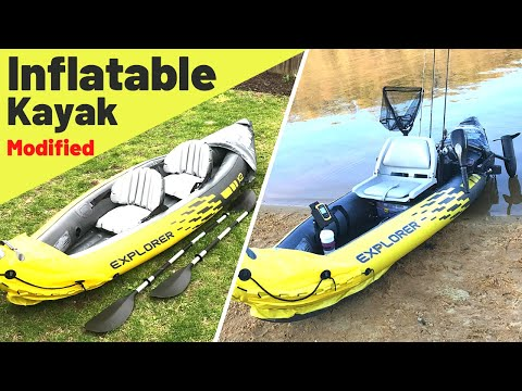 Cheap Inflatable Kayak Modified Into A Legit Fishing Kayak!? How To Make It