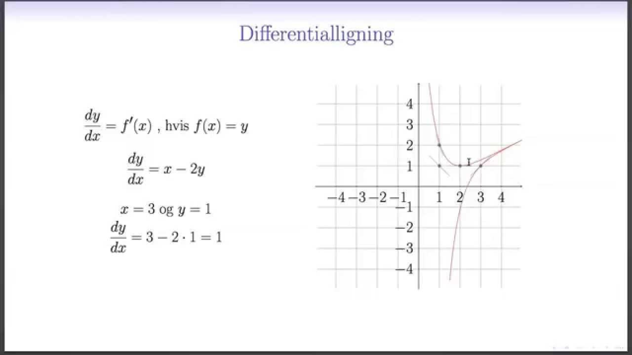 Differentialligninger L1 - Hvad er en differentialligning
