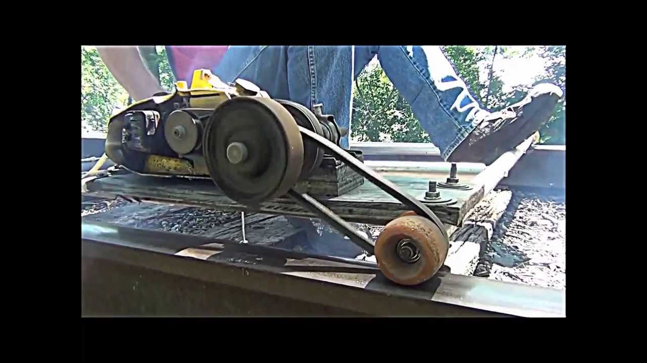 My Railroad Track Go Cart Mcculloch Chainsaw Motor And