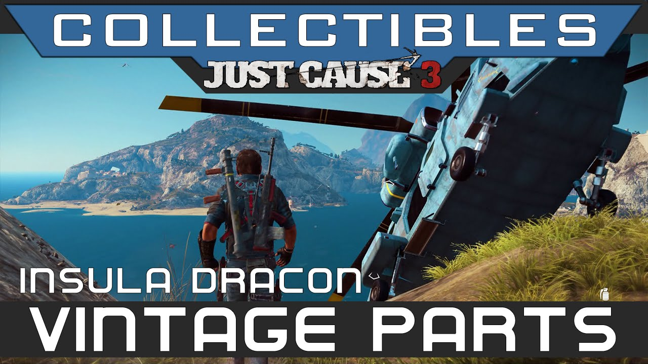 Just Cause 3 - All Vintage Parts Insula Dracon Location ...