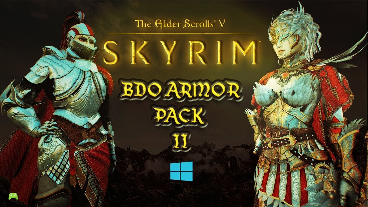 skyrim special edition BDO armor pack 2 Mod showcase [HD]