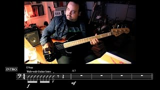"""Kiss"" - Bass Cover with Notation - by Prince & the Revolution"