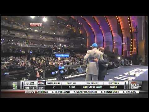 Cam Newton gets Drafted #1 to the Carolina Panthers