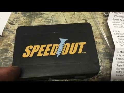 How to use Speedout Stripped Screw Removal Tool