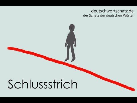 Schlussstrich  Deutsch lernen  Wortschatz 0078