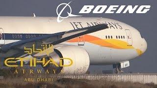 HD Jet Airways (Etihad Airways) 777-35R(ER) A6-JAF Takeoff from San Francisco International Airport