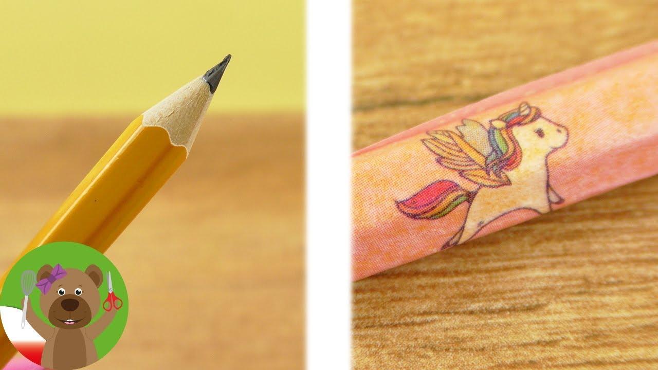 DIY ołówek z jednorożcem | pomysły Back to School | Unicorn Trend