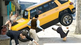 GTA 5 Die Hard - Slow Motion Crash Kills 10