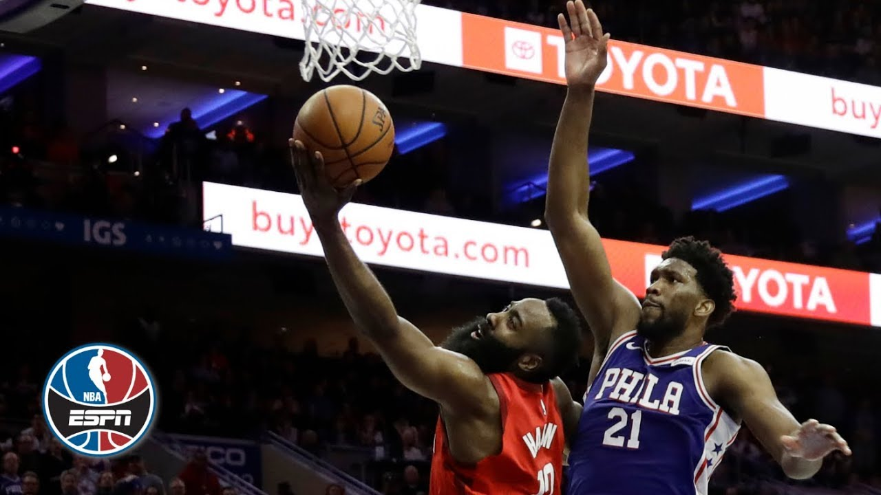 James Harden scores 37, but Joel Embiid leads 76ers past Rockets | NBA Highlights