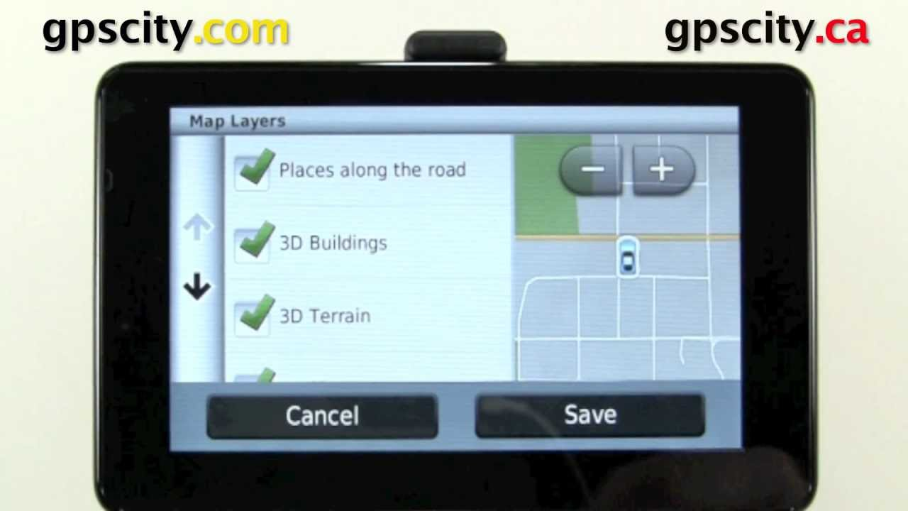 Map Screen Tutorial On The Garmin Nuvi  And Nuvi  With Gps City