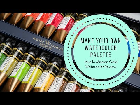 Mijello Mission Gold Watercolors : Create Your Own Custom Palette