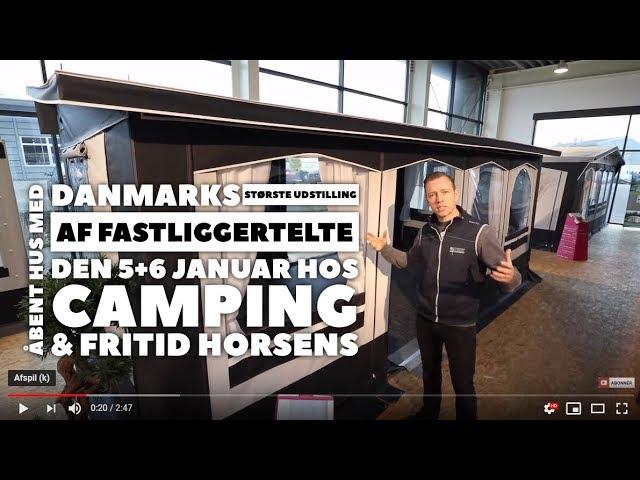 Kom til Åbent Hus og se Danmarks største udstilling af fastliggertelte 5+6 januar 2019