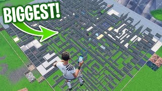 Playing MICHAEL MYERS in the BIGGEST MAZE EVER Created in Fortnite Creative Mode!