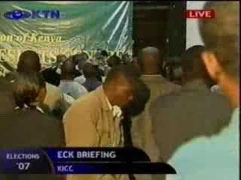 James Orengo roughed up at KICC -2007 - Contraversial Elections