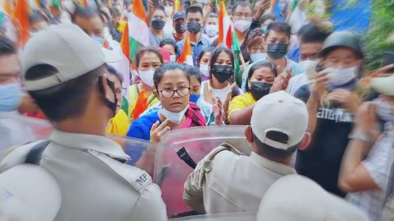 Angry 😡Brinda Vs Manipur Police #Short Manipur motivation speech video