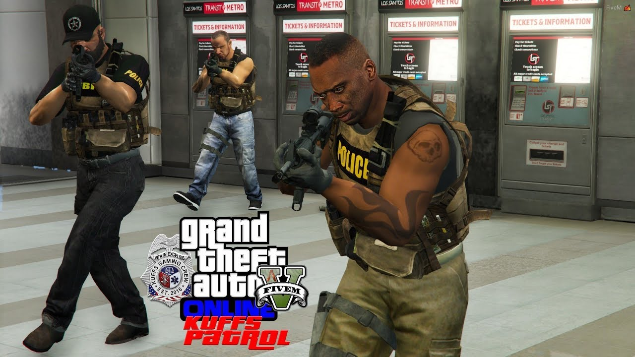 GTA 5 FiveM Police Roleplay - Swat Team Responds To Subway Attack - KUFFS  Multiplayer #222