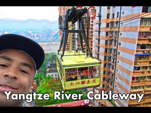 [Full Video] AMAZING Yangtze River Cableway RIDE in Chongqing China! | Don's ESL Adventure!