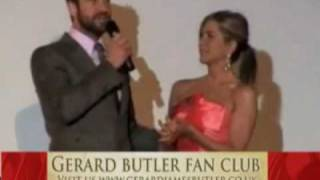 Gerard Butler interview with Jennifer Aniston in Paris The Bounty Hunter premiere France