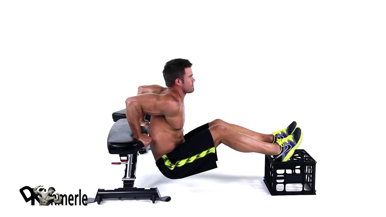 triceps workout at home bench dips triceps at home exercise 30894