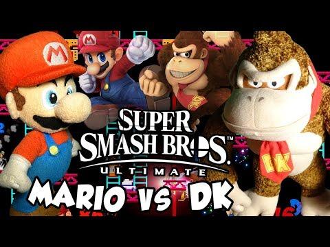 ABM: Mario Vs Donkey Kong!! Super Smash Bros Ultimate!! Gameplay Match!! ᴴᴰ