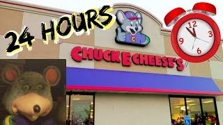 24 hour overnight challenge in chuck e cheese part 1