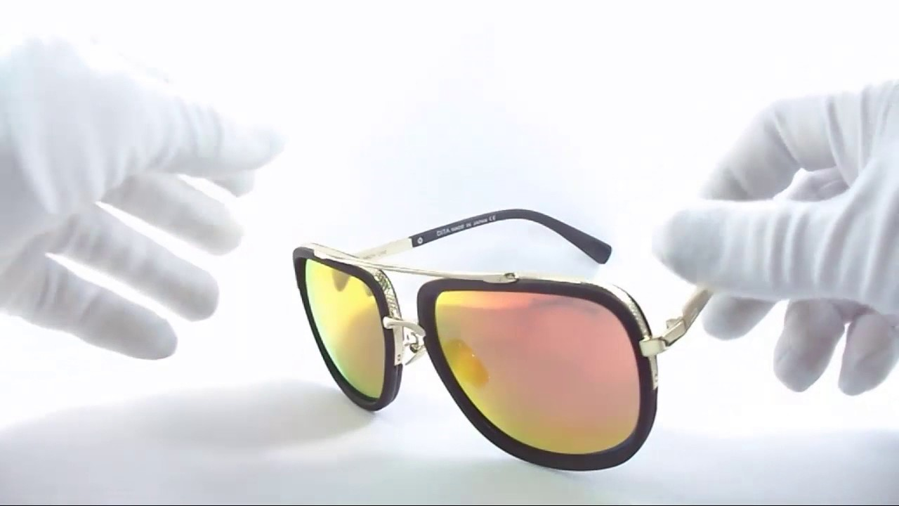 62fed111fb Lente De Sol Dita Mach One Gold   Fire Iridium Av0105 - YouTube