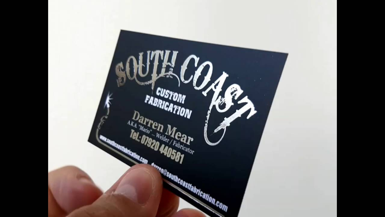 Matt laminated 400gsm foil business cards youtube matt laminated 400gsm foil business cards colourmoves Image collections