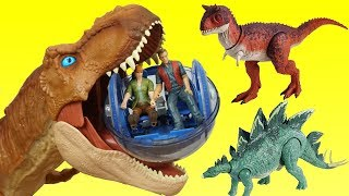 Jurassic World Fallen Kingdom Indoraptor Gyrosphere Giant T REX Dinosaurs and Hatching Dino Eggs