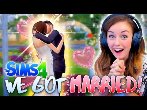 🎊👰💕WE GOT MARRIED!!! 💕👰🎊 (The Sims 4 #4! 🏡)