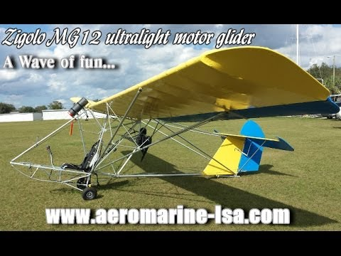 Zigolo Mg12 Motorized Ultralight Motor Glider Sailplane
