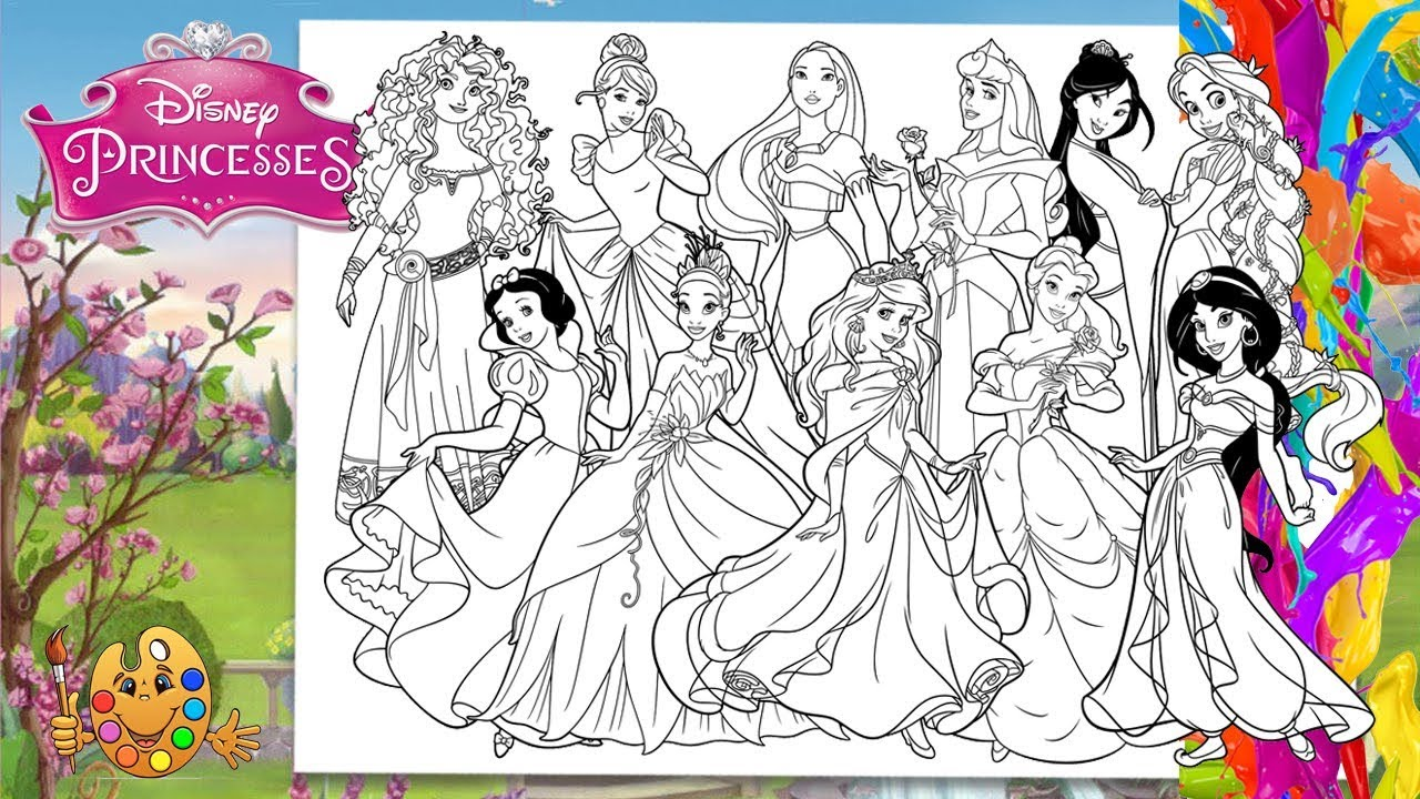 Tiana Coloring Pages Youtube Concept