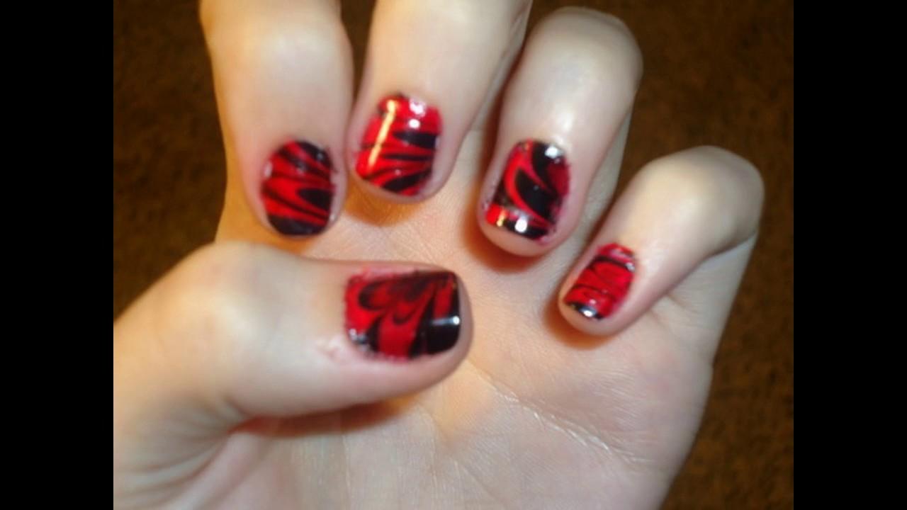 Diseño de uñas decoradas rojas sencillas y elegantes - YouTube