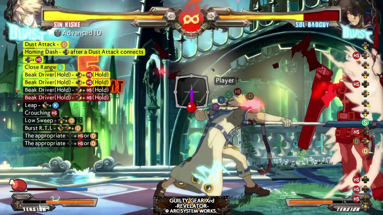 Sin Kiske Advanced 10 Combo